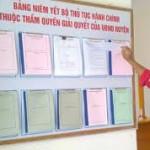 Thủ tục hành chính thuộc thẩm quyền của UBND cấp huyện