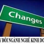 Hồ sơ, thủ tục thay đổi ngành nghề kinh doanh của doanh nghiệp