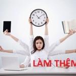 Nhân viên làm thêm giờ trong các doanh nghiệp